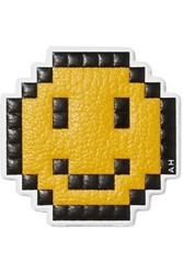 Anya Hindmarch Pixel Smiley Textured Leather Sticker Yellow
