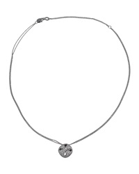Damiani Ruban 18K White Diamond Pave Pendant Necklace Women's