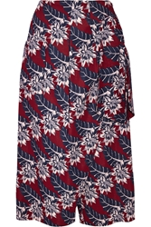 Thakoon Wrap Effect Printed Crepe Culottes