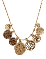 Lucky Brand Gold Tone Short Charm Necklace