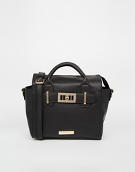 Carvela Mini Cross Body Bag With Lock Detail Black