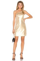 Motel Kate Dress Metallic Gold