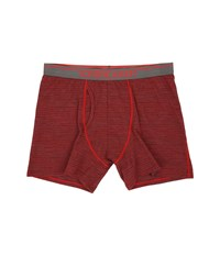Icebreaker Anatomica Boxers W Fly Oxblood Jet Heather Stripe Men's Underwear Red