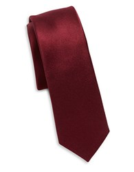 Original Penguin Solid Silk Tie Red