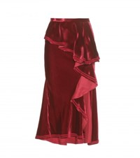 Givenchy Velvet Skirt Red