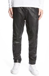 Lamarque Leather Jogger Pants Black