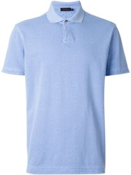 Z Zegna Reversible Polo Shirt Blue
