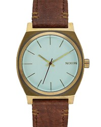 Nixon Green And Brown Time Teller Copper Watch Multicolour