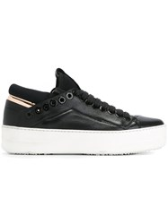 Bruno Bordese Eyelet Trim Sneakers Black