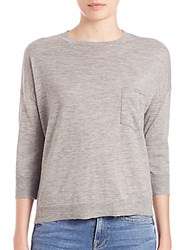 Frame Boxy Boyfriend Wool And Cashmere Sweater Gris