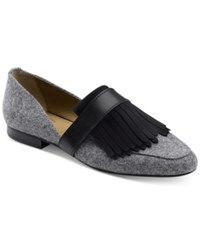 G.H. Bass And Co. Women's Harlow Cutout Loafers Women's Shoes Grey Black