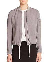 James Perse Linen Lined Jacket Flannel