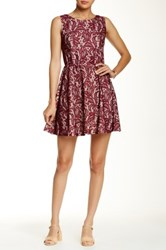 Want And Need Lace Overlay Skater Dress Pink