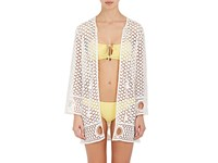 Kisuii Women's Alma Cotton Lace Cover Up White