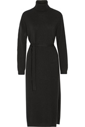 Lemaire Belted Cashmere Turtleneck Midi Dress