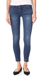 Blank Skinny Ankle Jeans With Frayed Hem Buffering