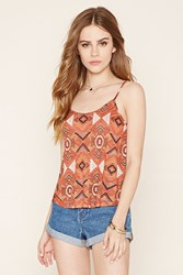 Forever 21 Lattice Cutout Cropped Cami