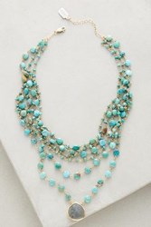 Anthropologie Multilayer Turquoise Choker Turw Lab Heart