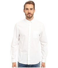 Alternative Apparel Industry Shirt White Oxford Men's Long Sleeve Button Up