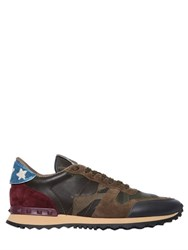 Valentino Rockrunner Beaded Stars Camo Sneakers