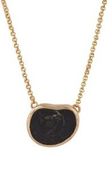 Dezso By Sara Beltran Women's Fossilized Ammonite Pendant Necklace Col Colorless