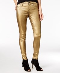 Tinseltown Juniors' Metallic Coated Skinny Jeans Gold