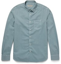 Officine Generale Lim Fit Cotton Hirt Light Blue