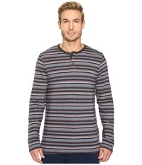 Tommy Bahama Yarn Dye Cotton Modal Jersey Long Sleeve Henley Sail Striped Heather Multi Men's Long Sleeve Pullover
