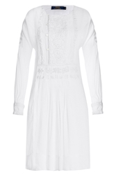 Polo Ralph Lauren Embroidered Dress White