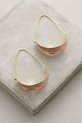 Anthropologie Berna Hoops Copper