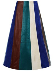 Derek Lam Multi Leather Patchwork Midi Skirt