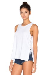 Blank Nyc Lace Up Tank White