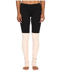 Alo Yoga Goddess Ribbed Legging Black Buff Women's Workout Beige