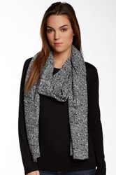 Plush Marled Scarf Black