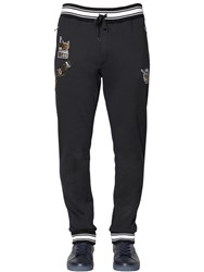 Dolce And Gabbana Music Patches Cotton Jogging Pants
