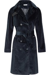 Tomas Maier Cotton Corduroy Trench Coat Navy