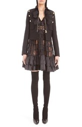Givenchy Women's Felted Wool Blend Crop Military Jacket