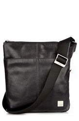 Men's Knomo London 'Kyoto' Leather Crossbody Bag Black