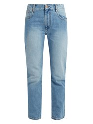 Etoile Isabel Marant Cliff High Rise Straight Leg Jeans Light Denim