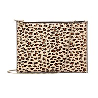 Aspinal Of London Soho Flat Clutch Leopard