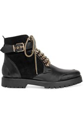 Burberry London London Leather And Suede Ankle Boots Black
