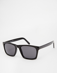 Asos Flat Square Sunglasses Black