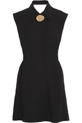 Opening Ceremony Talene Embellished Open Back Crepe Mini Dress Black