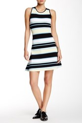 A.L.C. 'Dorit' Stripe Knit Fit And Flare Dress Yellow