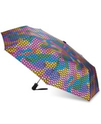 Betsey Johnson Xox Trolls Multicolor Foil Print Umbrella Only At Macy's Black