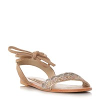 Steve Madden Shaney Beaded Flat Sandals Blush