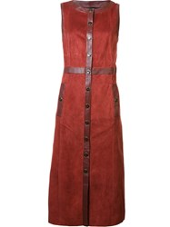 Vanessa Seward Button Down Dress Red