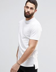 Only And Sons T Shirt With High Neck White
