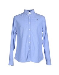Marville Shirts Shirts Men Azure