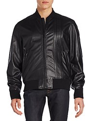 Diesel Leather Flight Jacket Black
